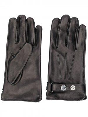 Перчатки с регулируемым ремешком Alexander McQueen. Цвет: черный