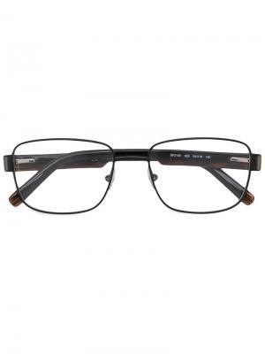 Очки в квадратной оправе Salvatore Ferragamo Eyewear. Цвет: чёрный