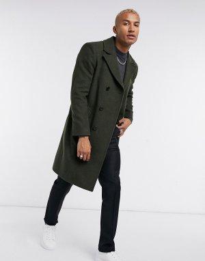 Темно-зеленое пальто в стиле милитари -Зеленый Religion