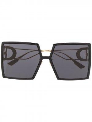 Солнцезащитные очки 30 Montaigne в квадратной оправе Dior Eyewear. Цвет: черный