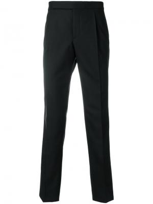 Классические приталенные брюки Saint Laurent. Цвет: черный