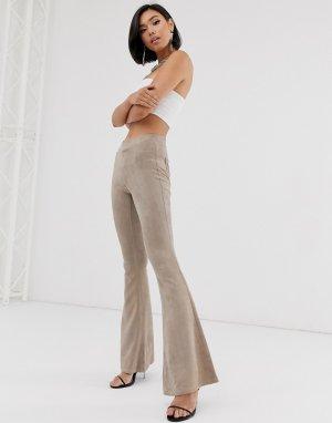 Бархатные расклешенные брюки Blank NYC-Neutral NYC