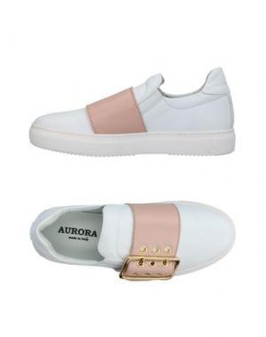 Низкие кеды и кроссовки AURORA. Цвет: белый