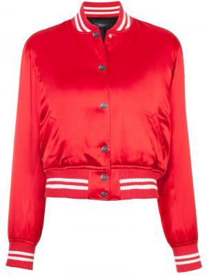 Куртка-бомбер с контрастной оторочкой Amiri. Цвет: красный