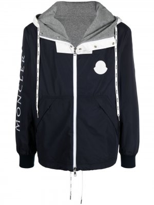 Куртка на молнии с капюшоном Moncler. Цвет: синий