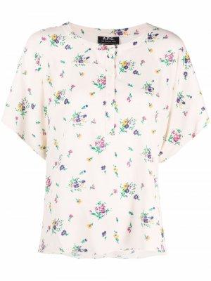 Блузка с цветочным принтом A.P.C.. Цвет: нейтральные цвета