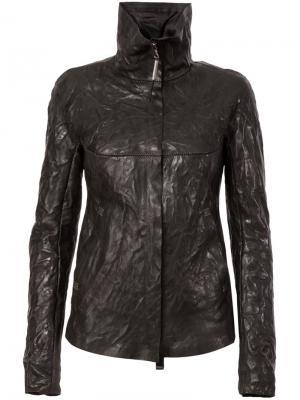 Дутая кожаная куртка Isaac Sellam Experience. Цвет: чёрный