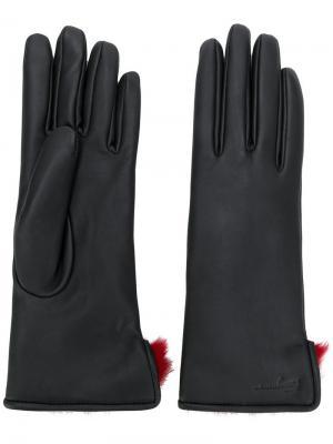 Классические перчатки Salvatore Ferragamo. Цвет: черный