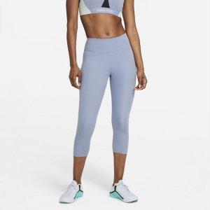 Женские капри со средней посадкой One - Зеленый Nike