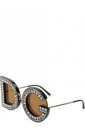 Солнцезащитные очки Dolce & Gabbana. Цвет: серебряный