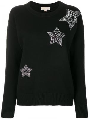 Толстовка со звездами Michael Kors. Цвет: черный