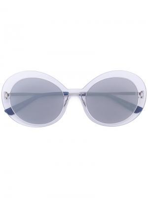 Солнцезащитные очки в овальной оправе Christian Roth Eyewear. Цвет: металлический
