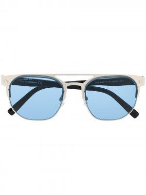 Солнцезащитные очки в круглой оправе Dsquared2 Eyewear. Цвет: серебристый
