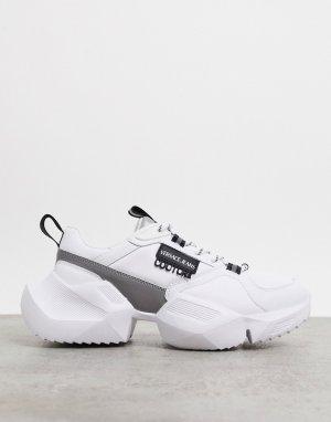 Белые кроссовки на массивной подошве -Белый Versace Jeans Couture