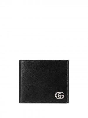 Кошелек с логотипом Interlocking G Gucci. Цвет: черный