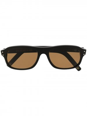 Солнцезащитные очки с затемненными линзами в квадратной оправе Cutler & Gross. Цвет: черный