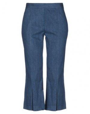 Джинсовые брюки-капри NEIL BARRETT. Цвет: синий