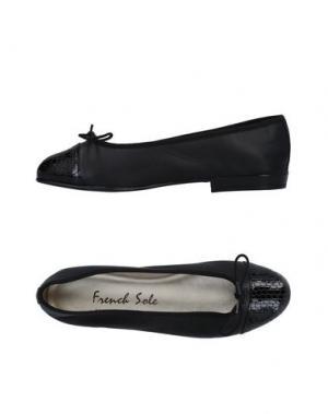 Балетки FRENCH SOLE. Цвет: черный