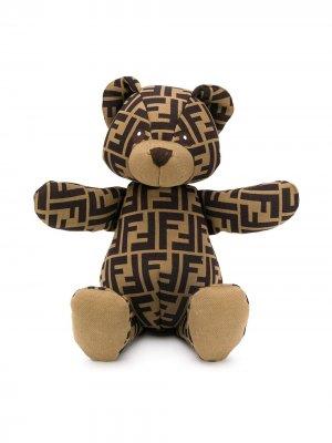 Мягкая игрушка с узором Zucca Fendi Kids. Цвет: коричневый