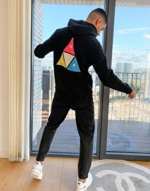Худи черного цвета с капюшоном Prism Trail-Черный HUF