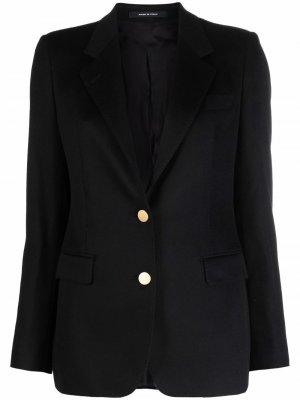 Fitted single-breasted blazer Tagliatore. Цвет: черный