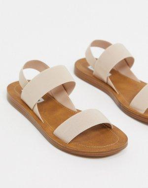 Светло-розовые сандалии с ремешками -Бежевый Steve Madden