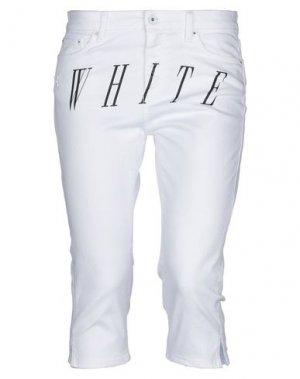 Джинсовые брюки-капри OFF-WHITE™. Цвет: белый