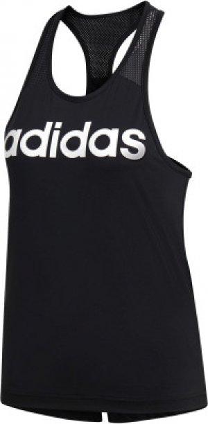 Майка женская adidas Design 2 Move Logo, размер 46-48. Цвет: черный