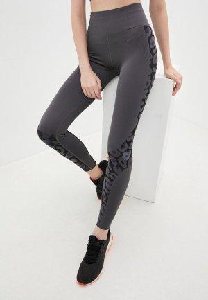 Тайтсы adidas by Stella McCartney TRUEPUR SL TI. Цвет: серый