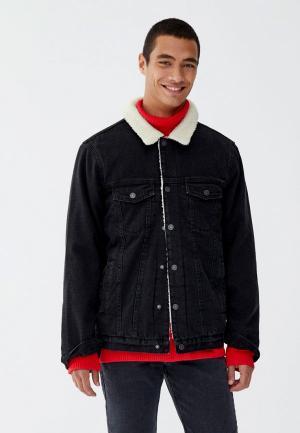 Куртка Pull&Bear. Цвет: черный