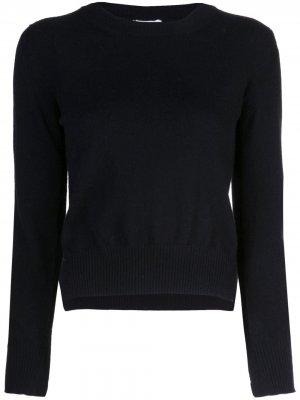 Укороченный пуловер с разрезами по бокам Rosetta Getty. Цвет: черный