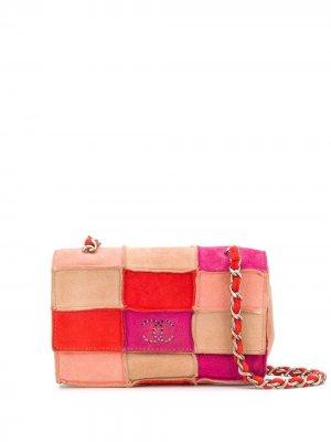 Мини-сумка 1990-х годов с логотипом CC Chanel Pre-Owned. Цвет: красный