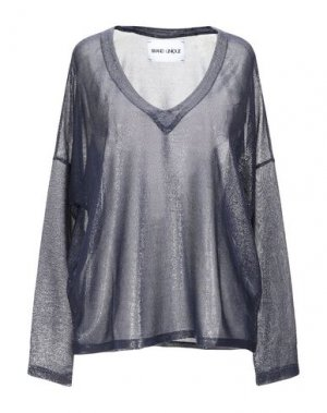 Блузка BRAND UNIQUE. Цвет: темно-синий