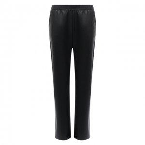 Кожаные брюки BOSS. Цвет: чёрный