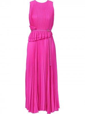 Плиссированное платье без рукавов Jason Wu Collection. Цвет: розовый