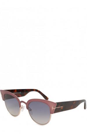 Солнцезащитные очки Tom Ford. Цвет: бронзовый
