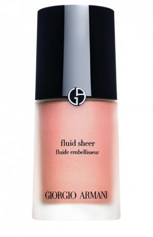 Fluid Sheer флюид для сияния кожи оттенок 2 Giorgio Armani. Цвет: бесцветный