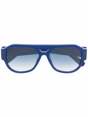 Солнцезащитные очки-авиаторы Bryce с логотипом Dsquared2 Eyewear. Цвет: синий