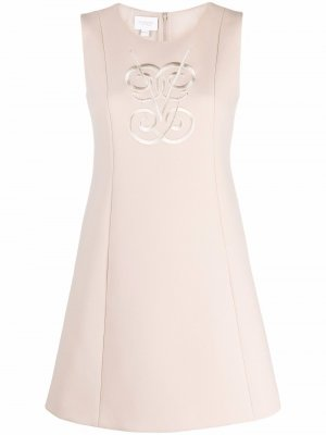 Embroidered-motif sleeveless dress Giambattista Valli. Цвет: нейтральные цвета