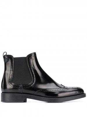 Tods ботинки челси с брогированием Tod's. Цвет: черный