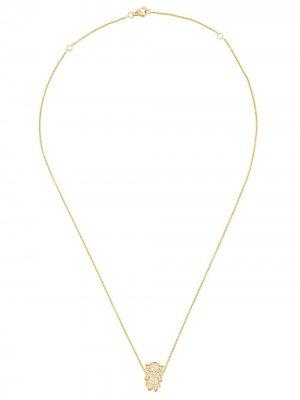 Колье Masha из желтого золота с бриллиантами ALINKA. Цвет: золотистый