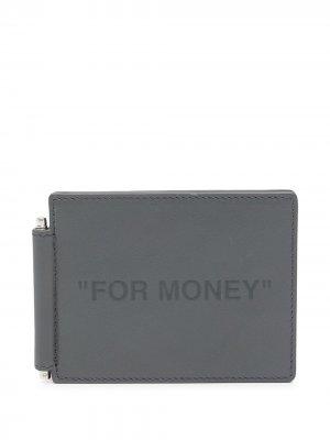 Картхолдер For Money с тиснением Off-White. Цвет: серый