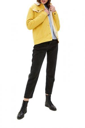 Куртка джинсовая Dasti. Цвет: горчичный