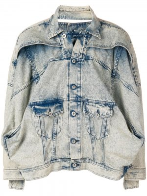 Джинсовая куртка в стиле оверсайз Diesel Red Tag. Цвет: синий