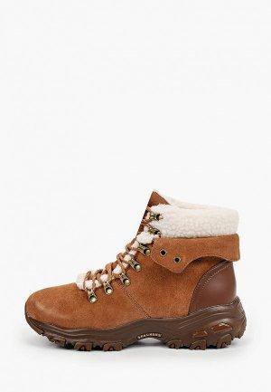 Ботинки Skechers DLITES. Цвет: коричневый