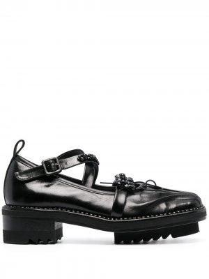 Туфли дерби с кристаллами Simone Rocha. Цвет: черный