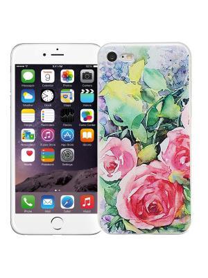 Чехол для iPhone 7 Пионы в саду Kawaii Factory. Цвет: салатовый, белый, лиловый