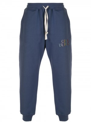Спортивные брюки с вышитым логотипом Casablanca. Цвет: синий