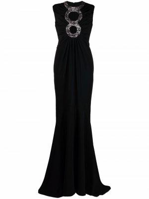 Платье в стиле ампир Azzaro. Цвет: черный
