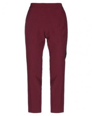 Повседневные брюки CLIPS MORE. Цвет: красно-коричневый